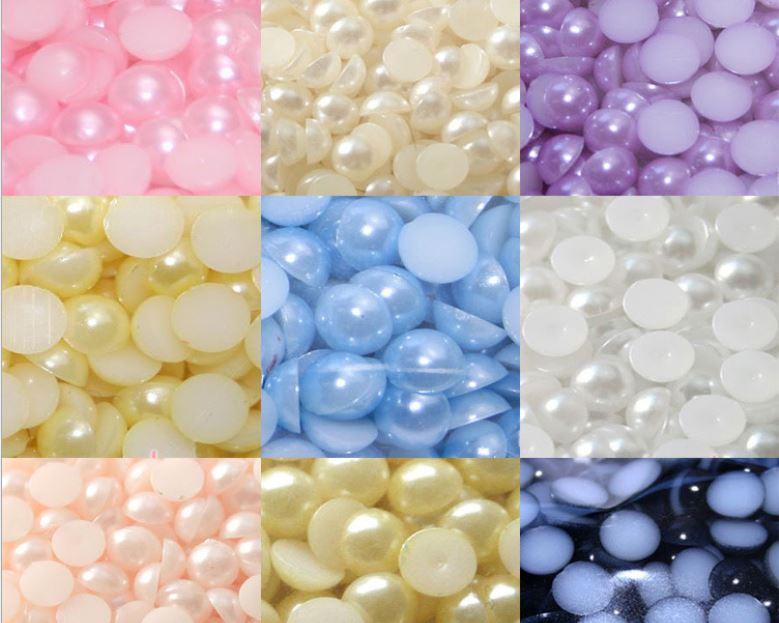 Бусины для ювелирных изделий «сделай сам», круглые бусины без клея, пластиковые бусины россыпью