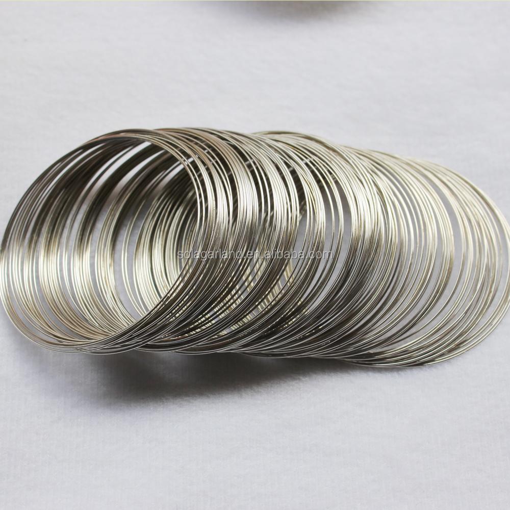Оптовая продажа, проволочные катушки для изготовления ювелирных изделий с никелевым покрытием и памятью браслета 0,6 мм