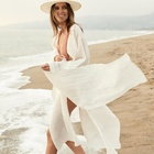 white beach kimono dress sarong 1 piece swim coverup