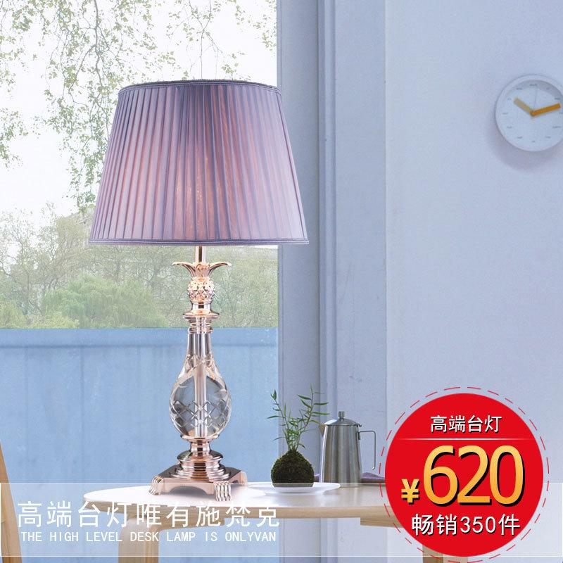 europ ische kristall tisch lampe schlafzimmer nachttischlampe hochzeit tischlampe moderne. Black Bedroom Furniture Sets. Home Design Ideas