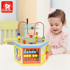 top bright montessori and educational Abacus learning wooden beads toy