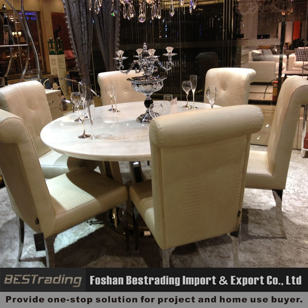 Modern Round Nature Marble Top Dining Table Set Buy Dining Round Table And Chair Set Royal Design Dining Table Sets Product On Alibaba Com