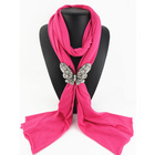China Suppliers Low Price New Design Butterfly Pendant Scarf Accessories Jewelry