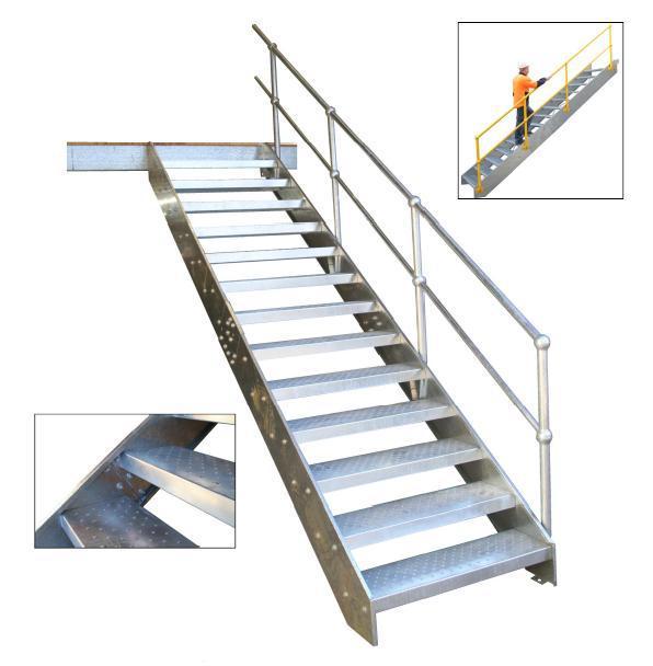 Galvanized External Steel Walkway Staircase Design Buy