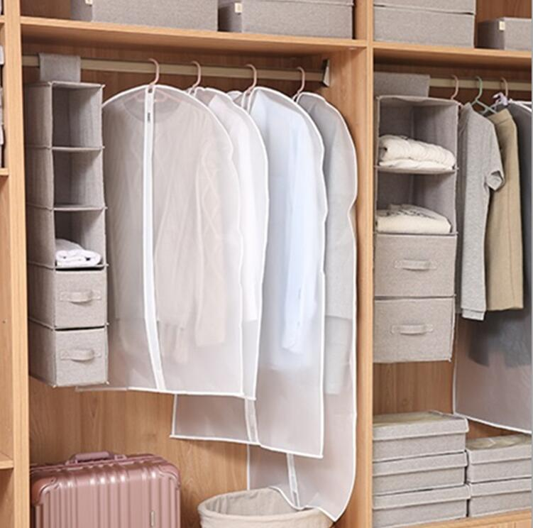 Clear disposable Dust-proof Dress Clothes Cover Suit Dress Garment Bag Storage Protector