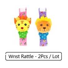 Детские игрушки с героями мультфильмов, мягкие детские погремушки с животными для детей 0-12 месяцев, плюшевые носки для новорожденных, детск...(China)