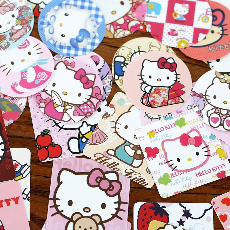 Hello Kitty Home Decor: Aliexpress.com : Buy 46 Pcs/lot DIY Hello Kitty Sticker
