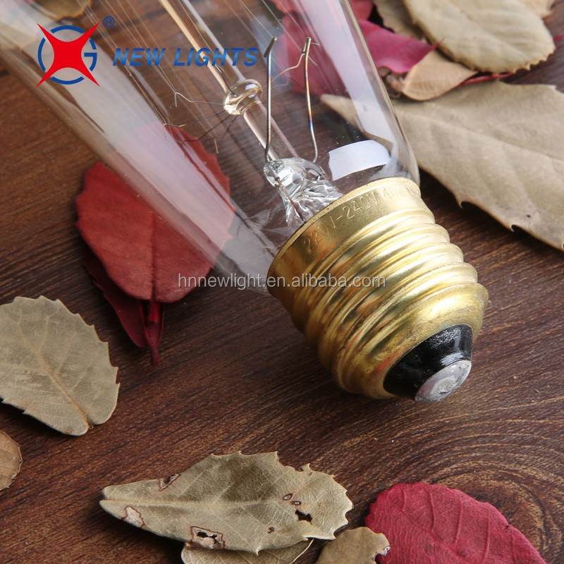 Best Selling 110V/220V 40W 60W ST64 Antique Retro Edison Bulb Lamp E27