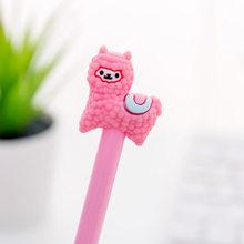 1 шт., Корейская Милая мультяшная оригинальная нейтральная ручка из альпаки, школьные канцелярские принадлежности для письма, черная ручка, ...(Китай)