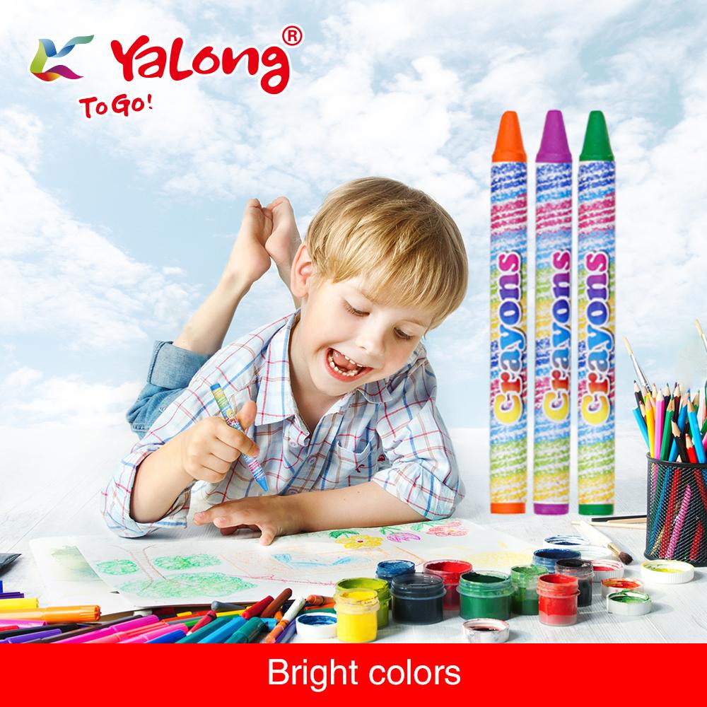yl95087 wax crayon 12/24 colors can choose