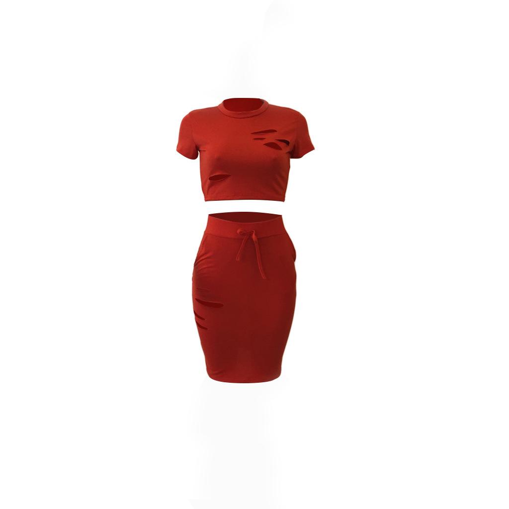 Helisopus открытое облегающее платье, сексуальное женское эластичное платье из двух частей с отверстиями, комплект одежды Vestidos(Китай)