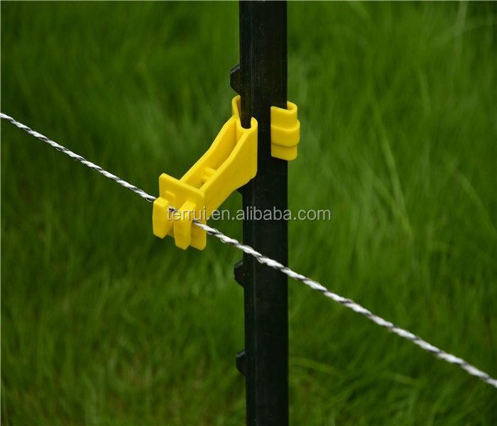 Пластиковые изоляторы для электрических ограждений, Т-образные удлиненные 10 мм офсетные полиэтиленовые изоляторы для электрических ограждений
