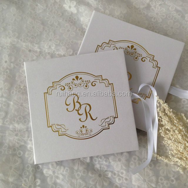 Luxury Wedding Invitation with Gold Foil Details and Letterpress Printing