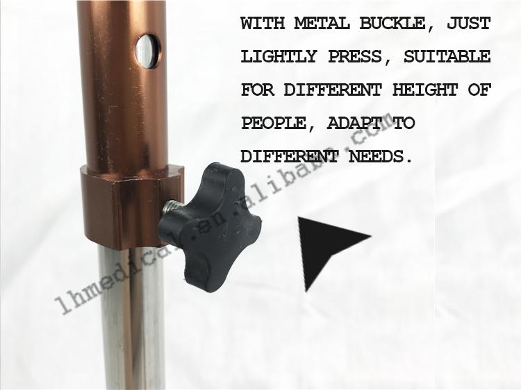 Твердого алюминиевого сплава черный четвероногих Регулируемый Роскошные трости