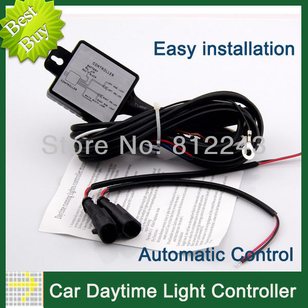 Light Controller For Motorcycles: Automatic DRL Controller LED Car Light 12V Daytime Running