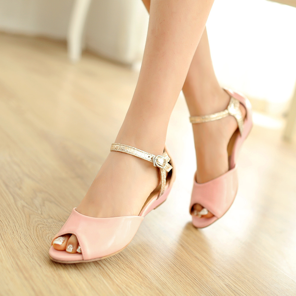 Ankle Strap Wedge Sandals Women 2014 Fashion Dress Shoes