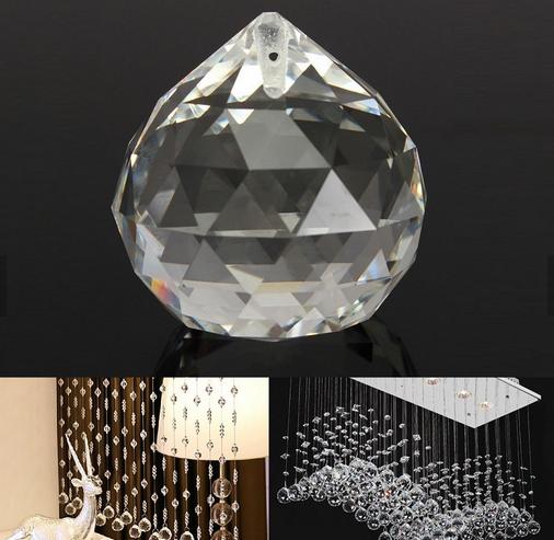 Высококачественная стеклянная люстра 60 мм, граненый шар, подвесное декоративное освещение, подвеска для люстры