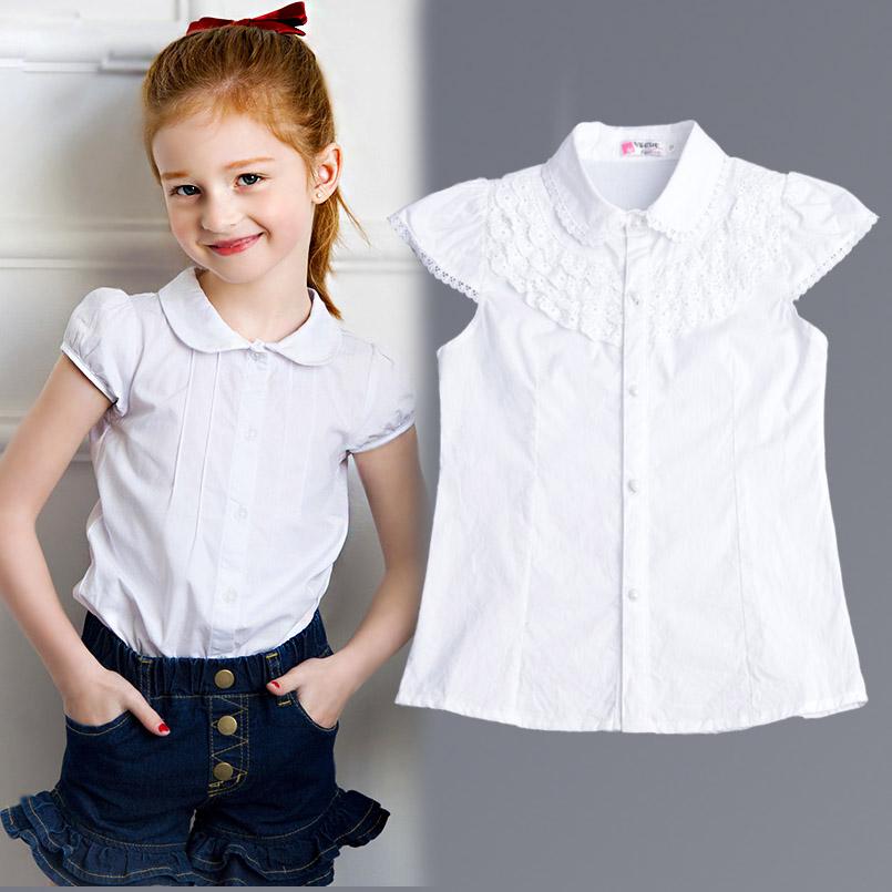 witte meisjes blouse