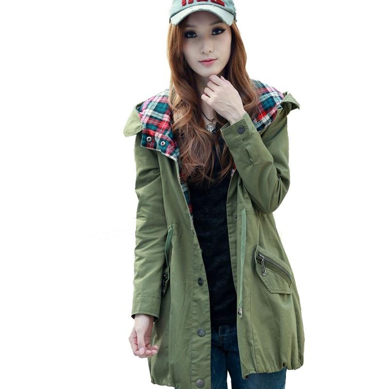 Popular Womens Army Green Military Jacket Buy Cheap Womens