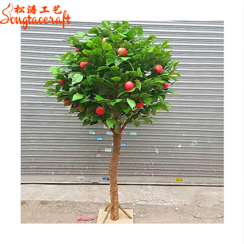 beautiful Decorative Artificial apple tree plants fruits bonsai tree