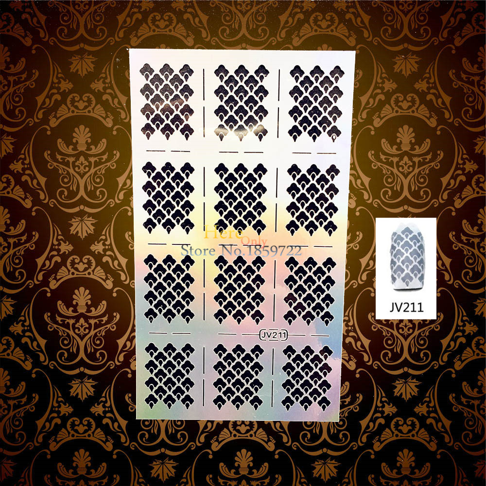1PC Unique Flash Nail Vinyls Stencil Stickers Nail Polish Painting Tools HJV211 Airbrush Tip Guide Manicure