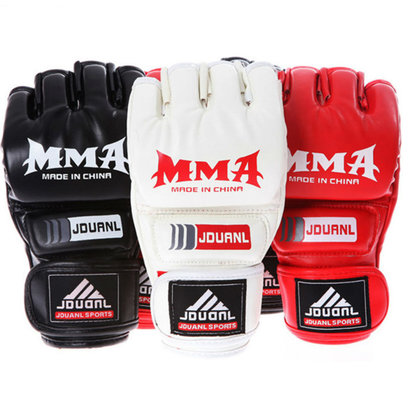 2016 New kick MMA Boxing Gloves Top Quality PU Leather MMA Half