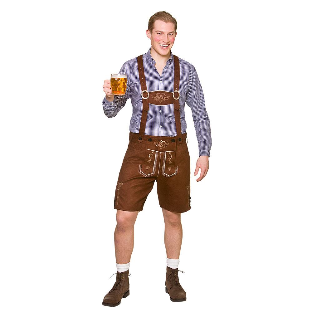Mens Fancy Dress German Man Costume Oktoberfest Bavarian German Beer Lederhosen