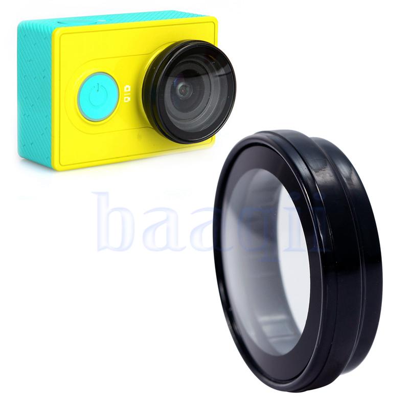 Уф-объектив фильтр кольцо покровного стекла защитный колпачок для Xiaomi Yi спорта камера DA375
