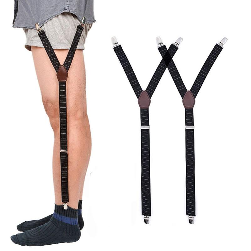 Mens Adjustable Elastic Shirt Stays Garter Straps Sock Suspenders Garters Belt Q