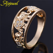 2016 Ajojewel 6 5 10 5 Hot Sale 18K Plated Elegant Clear Crystal Gold Elephant Animal
