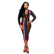 c149c9b41600e Buy multi color bodycon dress and get free shipping on AliExpress.com