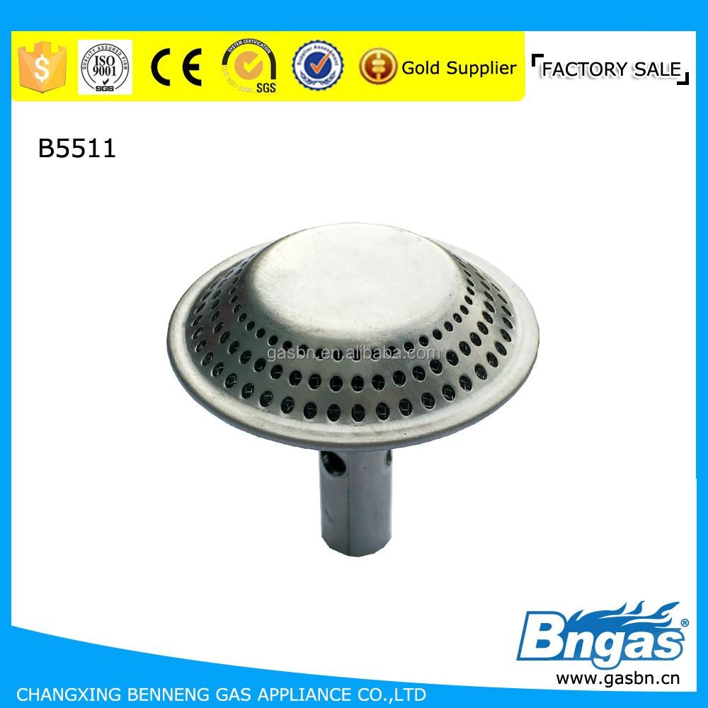 Cylinder stainless steel round gas burner