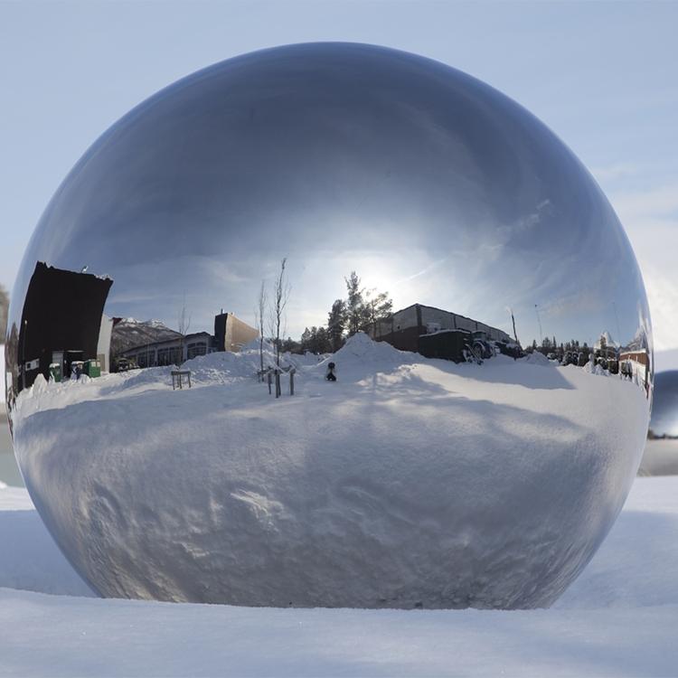 2021 high quality garden decor stainless steel ball sculpture