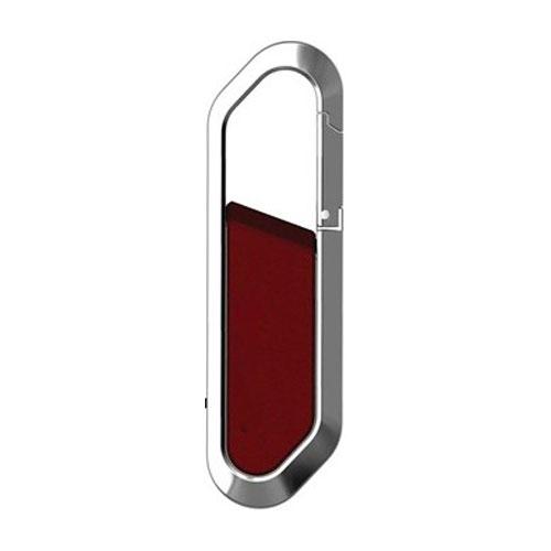 Chrome Metal Clip On USB 8GB Flash Drive Pen Memory Stick Key Ring Carabiner - USBSKY   USBSKY.NET