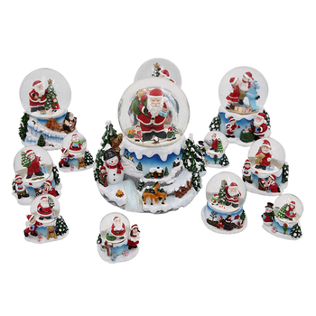Resin snow ball polyresin base glass christmas snow globe souvenir water globe wholesale