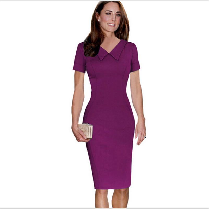 2015 new uk brand office dresses elegant fashion evening party women formal clothes pencil dress. Black Bedroom Furniture Sets. Home Design Ideas