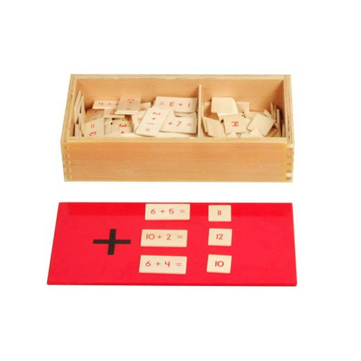 Tiger Montessori Materials:C112 Addition Equations and Sums Box Mathematic Learning Resources