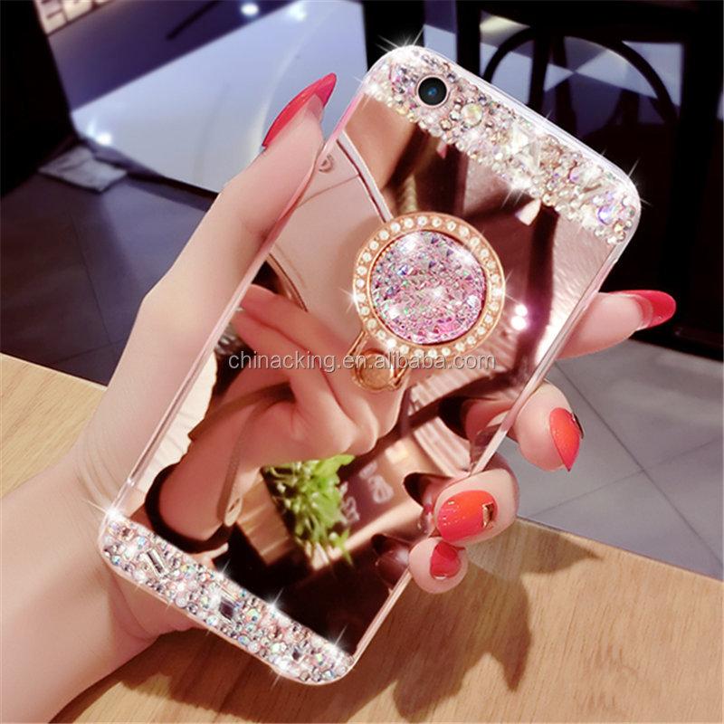 Coque De Téléphone Avec Anneau Support En Diamant Scintillant,Étui Pour Samsung Galaxy S5 S6 S7 Edge S8 S9 S10 S20 Plus Note 8 9 10 - Buy Pour Samsung ...