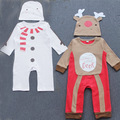 2016 Autumn Winter Baby Girls Boys Reindeer Cotton Romper Girls Christmas Newborn baby Clothes Infant Rompers