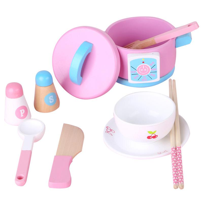 Детские деревянные игрушечные наборы для кухни, 14 комплектов