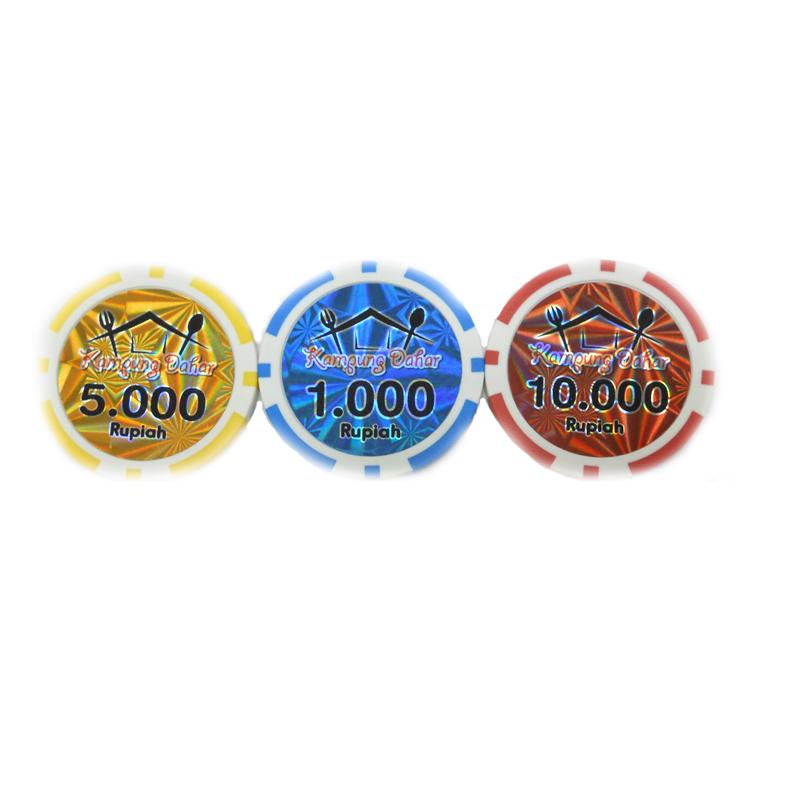 Custom Hologram Casino Chips Buy Abs Plastic Poker Chips Poker Chips With Laser Sticker Laser Stickers Poker Chips Product On Alibaba Com