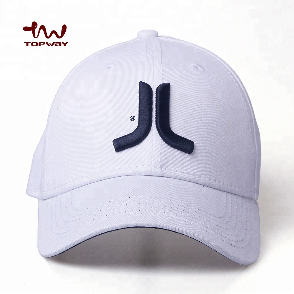 Free Samples Adult Size 58CM 6 Panel White Embroidered Logo Blank Baseball Flex fit Cap Custom Flexfi Hat