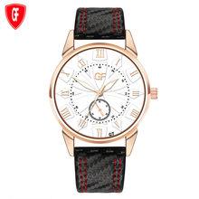 Мужские часы с кожаным ремешком, деловые часы с надписью, Новые Роскошные мужские часы с подсветкой, reloj hombre(Китай)