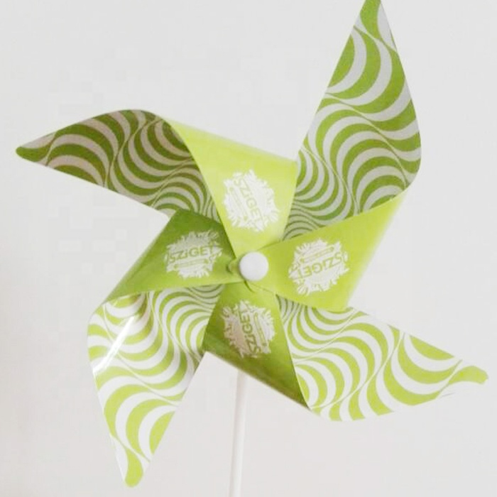 kids paper spinning toy windmilll print with your logo