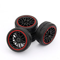 New 4pcs set RC Racing Rubber Tires Fit HSP HPI 9068 6081 1 10 Car On