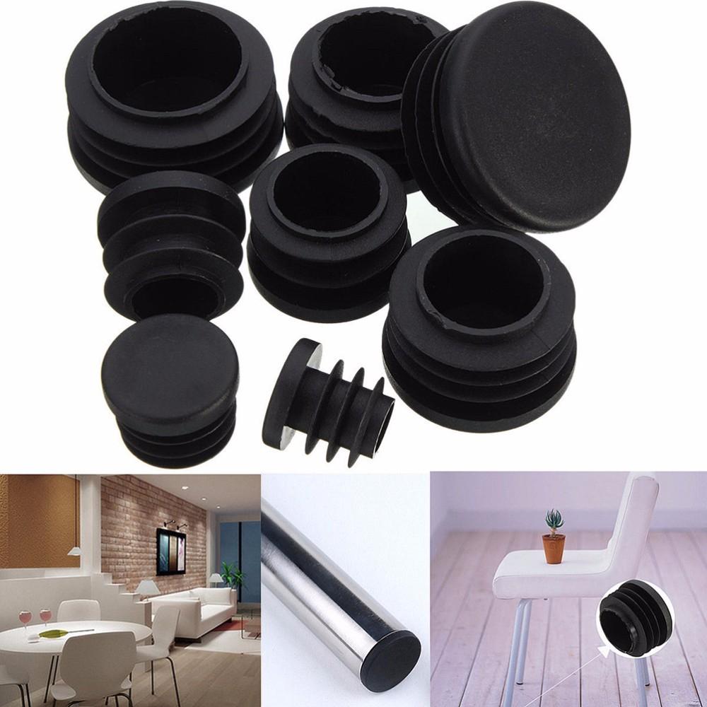 2019 Wholesale Black Plastic Furniture Leg Plug Chair Legs
