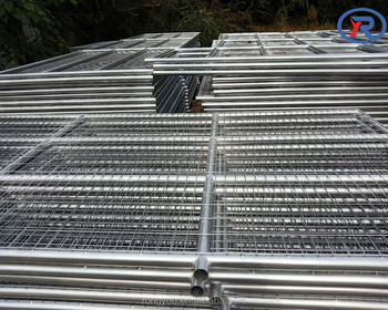 hot dipped galvanized metal pipe frame farm fence gate wire mesh livestock fence gate