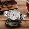 Slive case+white dial