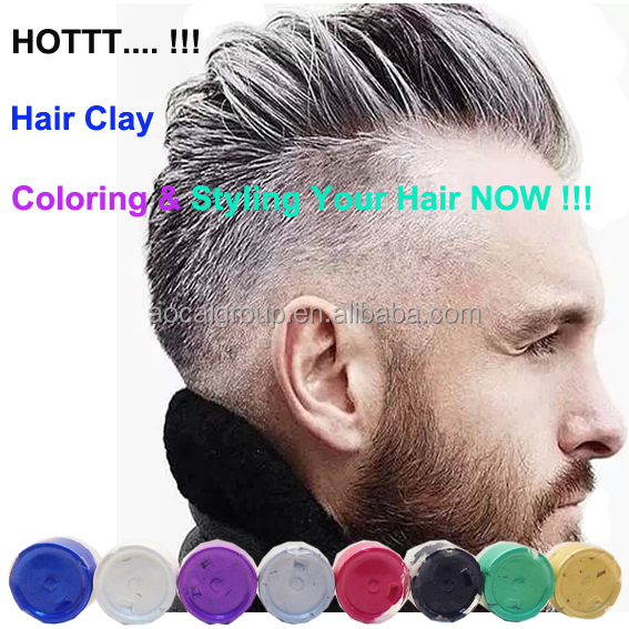 Silver Gray Man Use Hair Color Clay Buy Clay Hair Clay Hair Clay For Styling Product On Alibaba Com