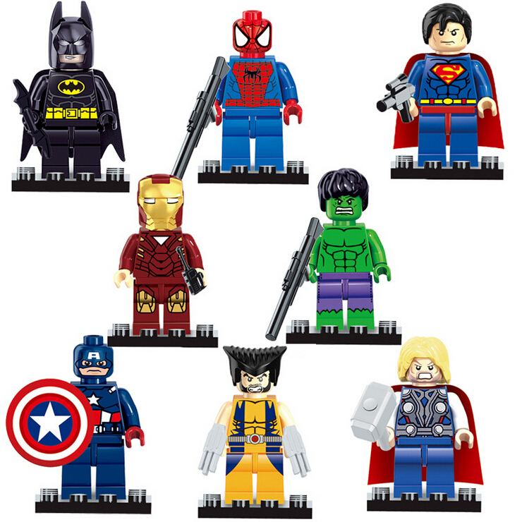UKLego Marvel DC Super Heroes Iron Man Batman Toy.